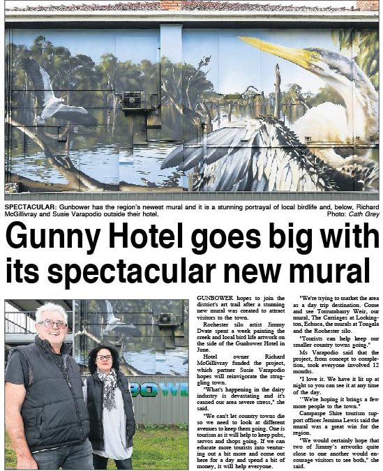 Gunbower Pub makes news!